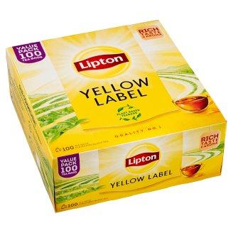Lipton Černý aromatizovaný čaj Yellow label 100 sáčků