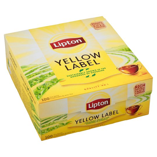 Lipton Black Aroma Tea Yellow Label 100 Bags