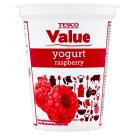 Tesco Value Yogurt Raspberry 330g