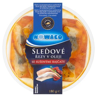 Nowaco Herring Cuts in Oil with Dried Tomatoes 180g