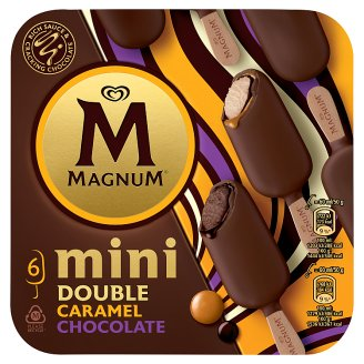 Magnum Mini Mix Double Chocolate and Double Caramel zmrzlina 6 x 60ml