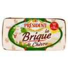 Président La brique de Chèvre Goat Cheese with White Mold on The Surface 150g
