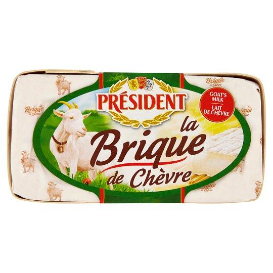 Président La brique de Chèvre Goat Cheese with White Mold on The Surface 150g