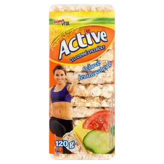 Bona Vita Active Whole-Grain Rice Sandwiches Lightly Salted 120g