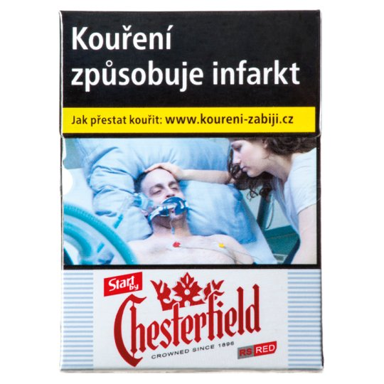 Start by Chesterfield Red 70 Cigarettes with Filter 20 pcs