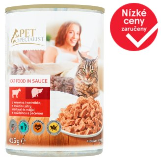 Tesco Pet Specialist Pieces with Beef and Liver in Sauce 415g