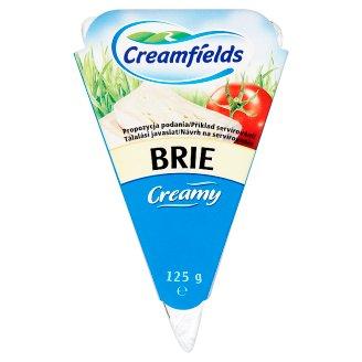 Creamfields Brie sýr s bílou plísní na povrchu 125g