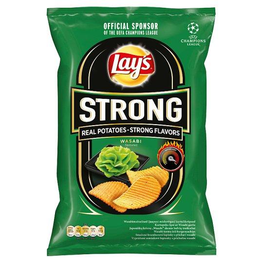 Lay's Strong Smažené bramborové lupínky s příchutí wasabi 70g