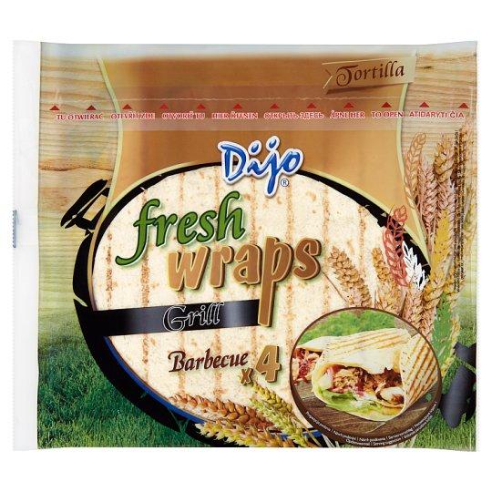 Dijo Fresh Wraps Grill Barbecue 4 pcs 250g