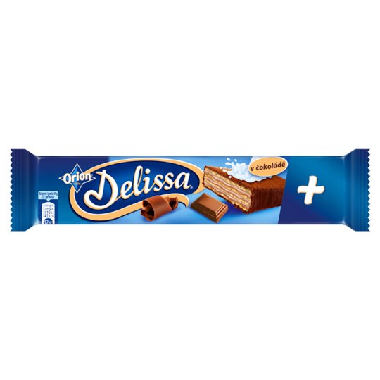 ORION Delissa Plus Wafer with Cocoa Filling Dipped in Milk Chocolate 44g