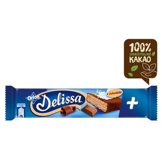ORION Delissa Plus oplatka s kakaovou náplní máčená v mléčné čokoládě 44g