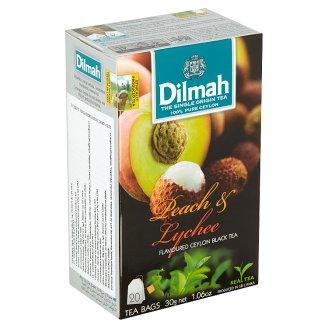 Dilmah Broskev & liči cejlonský černý čaj 20 sáčků 30g