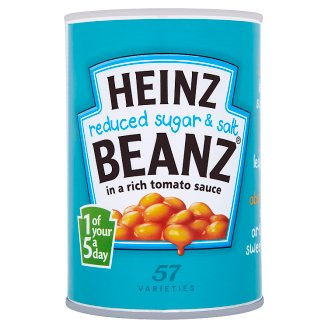 Heinz White Beans in Tomato Sauce with Less Sugar and Salt 415g