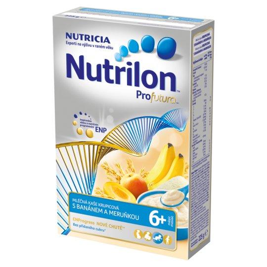 Nutrilon Profutura dětská mléčná kaše krupicová s banánem a meruňkou od uk. 6. měsíce 225g