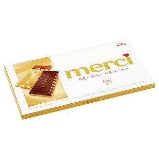 Merci Smetanová čokoláda s kávovou příchutí na bílé čokoládě 100g
