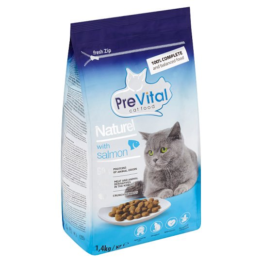 PreVital Naturel Complete Food for Adult Cats with Salmon 1.4kg