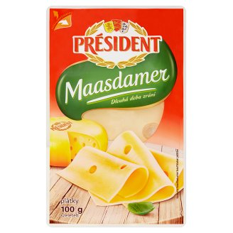 Président Maasdamer plátkový sýr 100g
