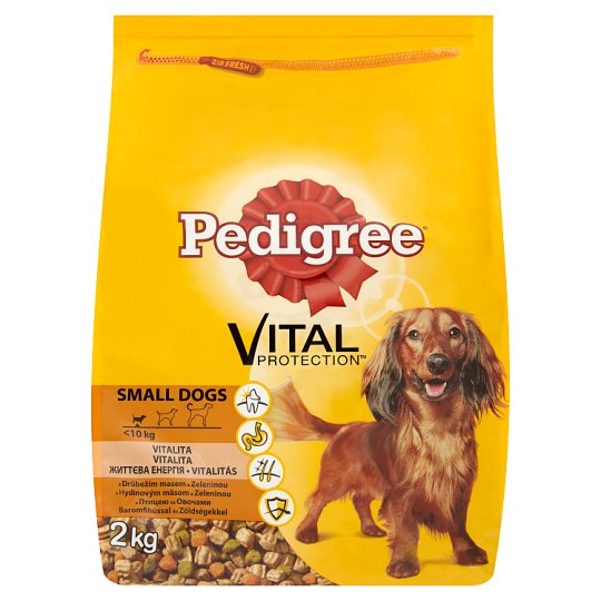 Pedigree Vital Protection Poultry & Vegetables Complete Food For Adult Small Dogs 2kg