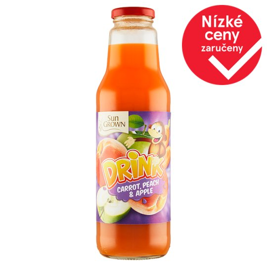 Sun Grown Drink mrkev, broskev, jablko 750ml