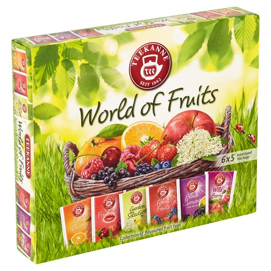 TEEKANNE World of Fruits, Collection of Flavoured Fruit Teas, 30 Bags, 70g