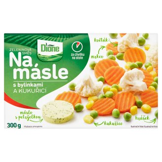 Dione Na másle Zeleninová směs s bylinkami a kukuřicí 300g