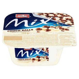 Müller Mix Jogurt s vanilkovou příchutí a křupavými čokoládovými kuličkami 150g