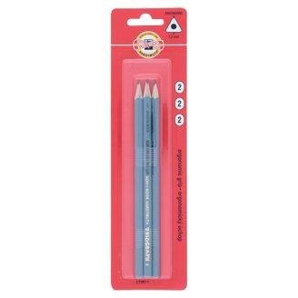 KOH-I-NOOR Triangular Graphite Pencils 2 Hardness 3 pcs