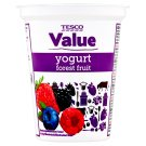 Tesco Value Yogurt Forest Fruit 330g
