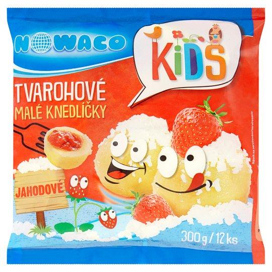 Nowaco Kids Tvarohové malé knedlíčky jahodové 12 ks 300g
