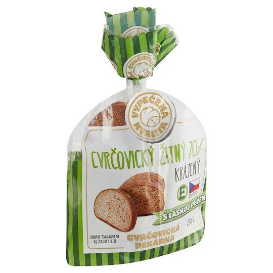 Cvrčovická pekárna Cvrčovický žitný 70% krájený 280g