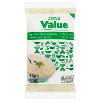 Tesco Value Long Grain Rice 1kg