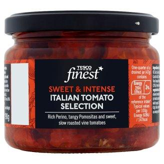 Tesco Finest Pečená rajčata marinovaná ve slunečnicovém oleji, česneku a bylinkách 290g