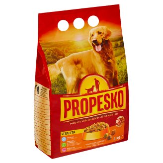 Propesko Vitality & Active Life Complete Food for Adult Dogs with Poultry, Beef and Vegetables 3kg