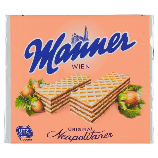 Manner Crunchy Wafers with Creamy Hazelnut Filling 75g