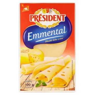 Président Emmental Cheese Sliced ​​100g