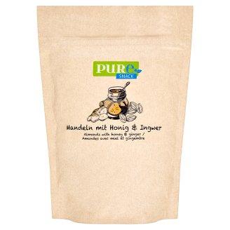 Pure Snack Pražené plátky blanšírovaných jader mandlí s medem, solí a zázvorem 125g