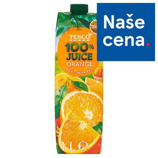 Tesco 100% Pomerančová šťáva z koncentrátu 1l