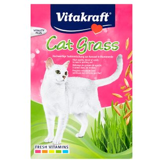 Vitakraft Cat-Gras Selection of Cereal Seeds with a High Content of Vitamins, Minerals and Chlorophy