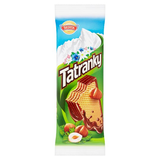 Sedita Tatranky Crispy Wafers with Hazelnut Cream Filling in Cocoa Coating 45g
