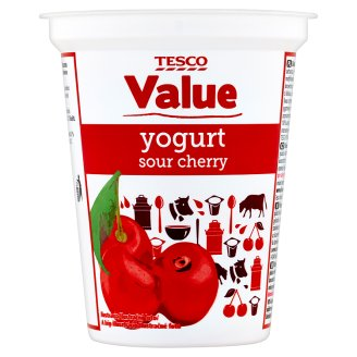 Tesco Value Yogurt Sour Cherry 330g