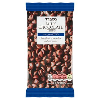 Tesco Milk Chocolate Chips 100g