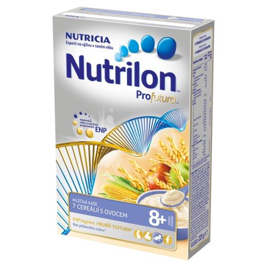 Nutrilon Profutura dětská mléčná kaše 7 cereálií s ovocem od uk. 8. měsíce 225g