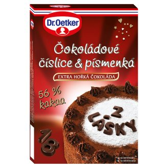 Dr. Oetker Chocolate Digits and Letters 60g