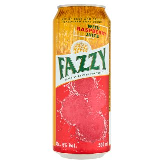 Fazzy Light Draft Beer Flavored with Raspberry Flavor 500ml