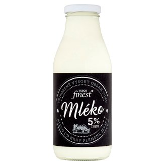 Tesco Finest Milk 5% Fat 750ml