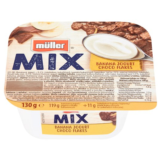 Müller Mix Choco Flakes Banana Yogurt 130g
