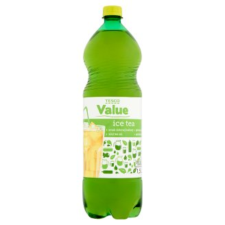 Tesco Value Ice Tea Soft Drink Flavored with Green Tea 1.5L