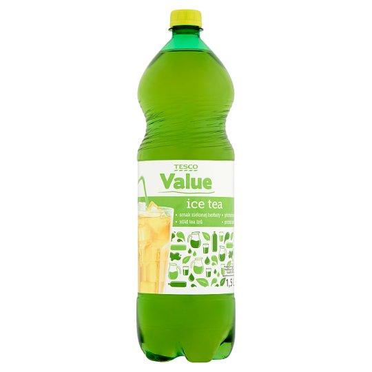 Tesco Value Ice Tea příchuť zelený čaj 1,5l