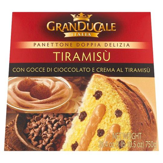 Granducale Italia Panettone with Chocolate Chunks Filled with Tiramisu Cream 750g