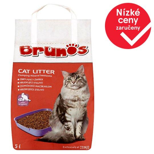 Brunos Hrudkující stelivo pro kočky 5l